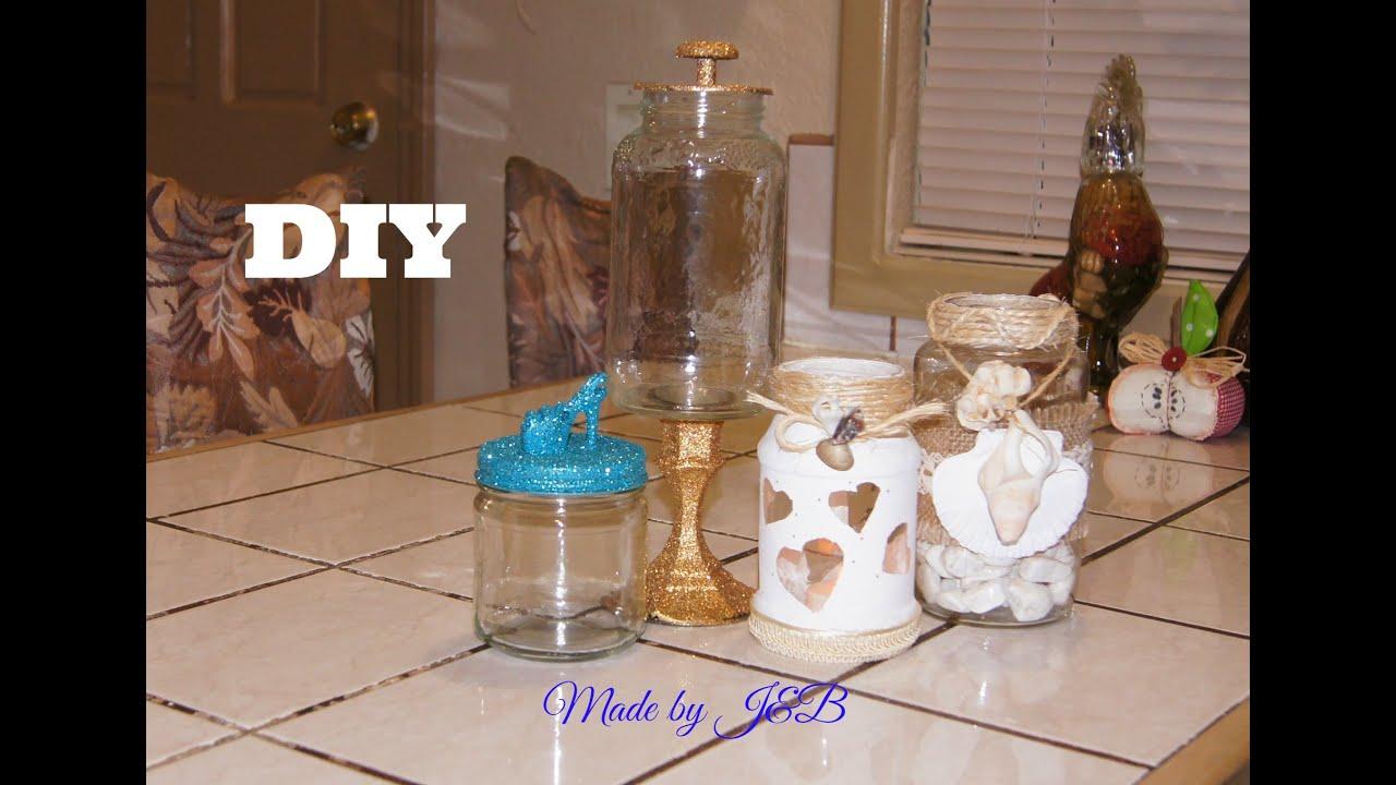 Como decorar frascos reciclados youtube - Manualidades para decorar el hogar ...