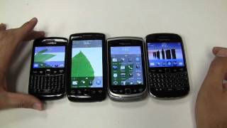all 4 brand new blackberry os7 devices compared 1080p hd