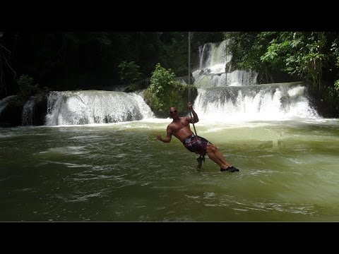 YS falls, Jamaica. The best video, HD