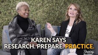 Karen Ergus says Research. Prepare. Practice. Vulnerability in Business Leadership