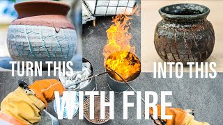 How to RAKU pottery!  My FAVORITE way to finish pottery