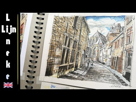 Perspective - Drawing a Street in Brugge - Part 2
