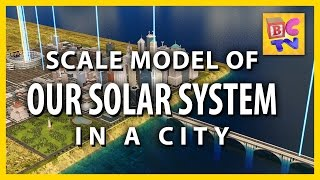 Our Solar System: Scale Model in a City | Brain Candy TV