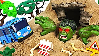 Hulk appeared in suspicious cave! Avengers! Help Tayo! #DuDuPopTOY