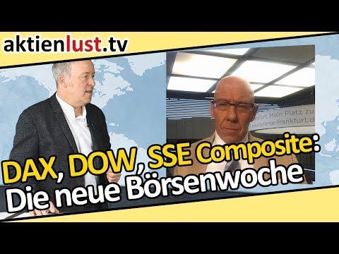 DAX, Dow, Shanghai Composite, Bayer: Die neue Börsenwoche auf aktienlust.tv