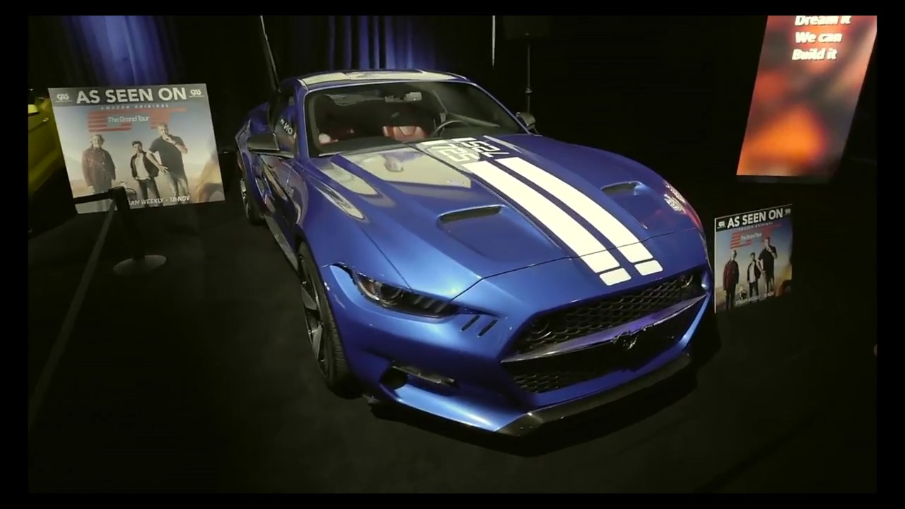 Custom ford mustangs featured in the grand tour pilot on amazon