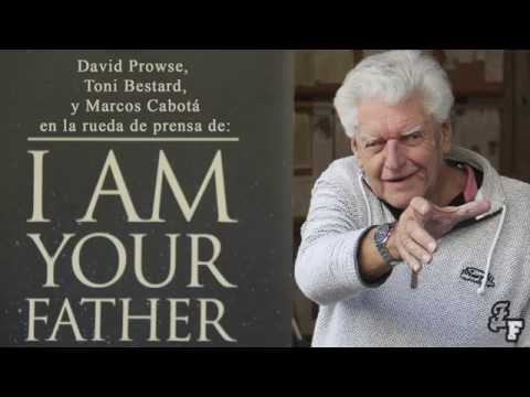 David Prowse en Madrid presentando I am your father (rueda de prensa)