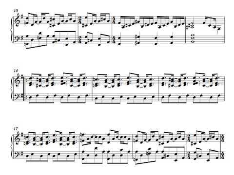 Genesis - Cuckoo Cocoon - Full Piano & Flute Score