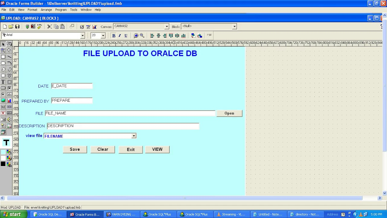 HOW TO UPLOAD FILE IN ORACLE FORMS,HOW TO DOWNLOAD FILE FROM ORACLE FORMS  by Oracle_forms6i
