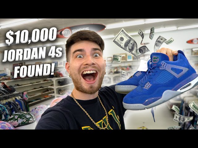 I FOUND $10000 JORDAN 4s IN THE THIRFT! Grail or Fail?! Trip to the Thrift