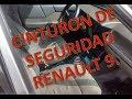 Anclaje correcto cinturón de seguridad Renault 9/11 de forma correcta fase 1