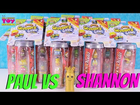 Paul vs Shannon Challenge Grossery Gang 4 Pack Toy Review | PSToyReviews