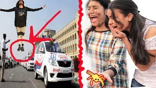 AMAZING FLYING AND SPIDER PRANK BY NatKhat Shady | उड़ने वाला प्रैंक | PRANKS IN INDIA
