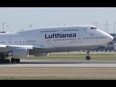 Lufthansa Boeing 747-400 Takeoff from YVR
