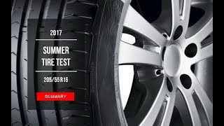2017 Summer Tire Test Results | 205/55 R16