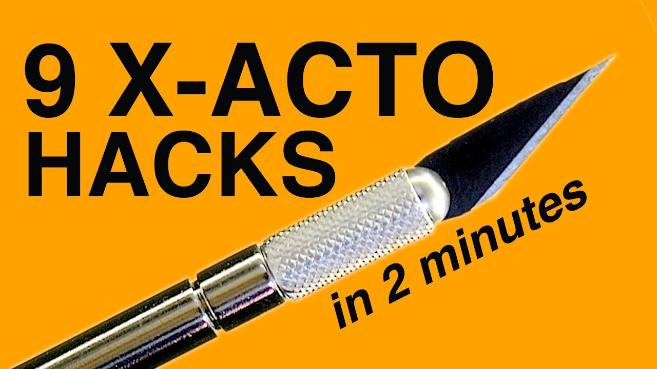 Download 9 Xacto Knife HACKS in 2 MINUTES!!