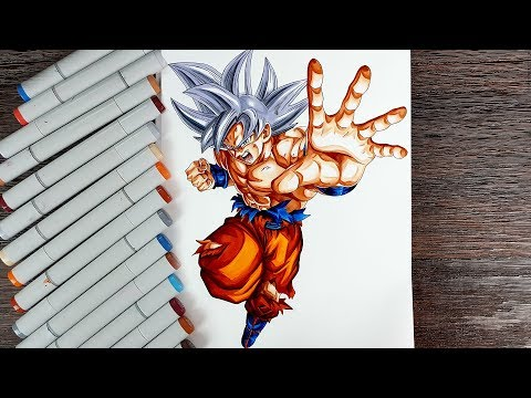Drawing Goku Mastered Ultra Instinct