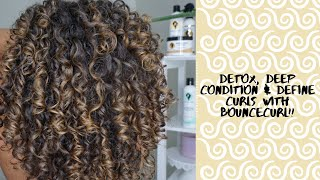 Detox Deep Condition and Define Natural Curly Hair with Bouncecurl