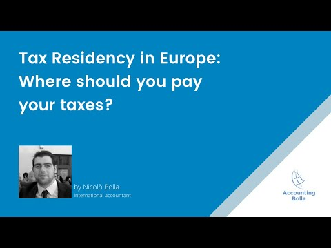 Tax residency in Europe: where should you pay taxes?