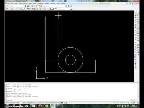 Autocad tutorial on orthographic