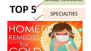 Top homeopathic medicines for Cold, Flu, Cough