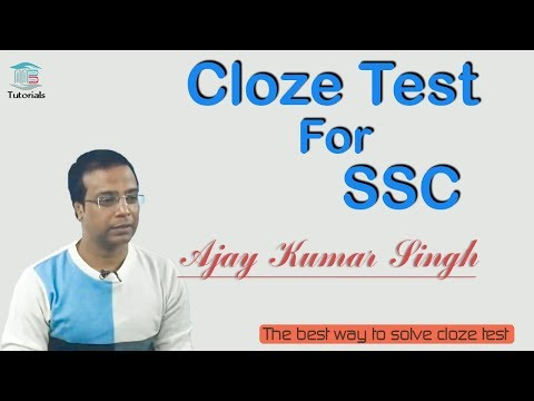 Cloze Test For SSC BY Ajay Kumar Singh II MB Books