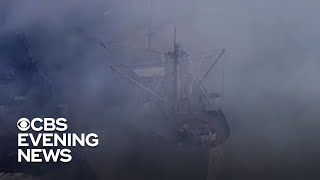 Firefighters Battle Massive Fire At San Francisco's Fisherman Wharf
