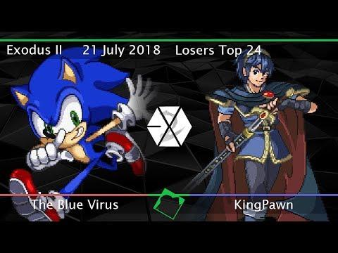 Exodus II - The Blue Virus (Sonic) vs KingPawn (Marth) - SSF2 Beta Losers Top 24