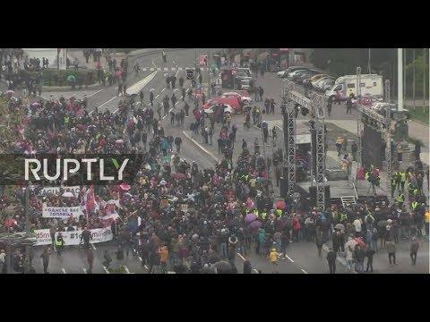 : Anti-government protests continue in Belgrade
