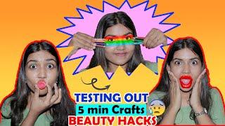 Testing Out Viral BEAUTY HACKS by 5 MINUTE CRAFTS! Gone WRONG😭 *Shocking*   Naina Agrahari