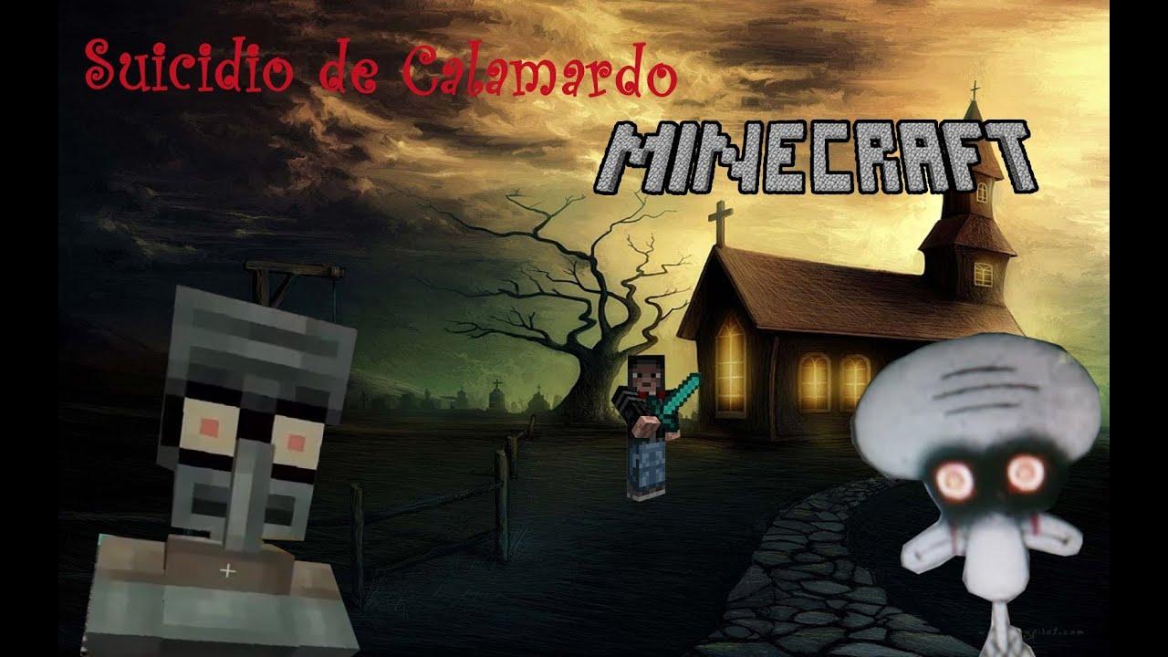 El Suicidio de Calamardo en Minecraft - YouTube