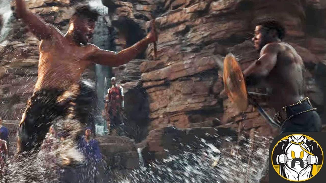 Warrior Falls Mcu Wallpaper Black Panther Vs Killmonger Wakanda Fight Scene Explained