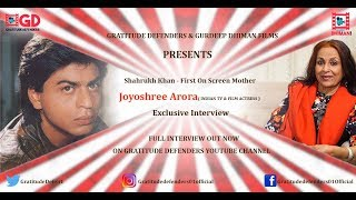 Shahrukh Khan First  On- Screen Mother I Film &TV Actress I Joyoshree Arora I Interview Trailer