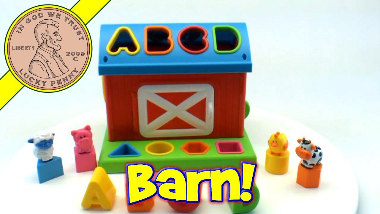 Infantino Barn Shape Sorter Farm Animals Learning Alphabet ...