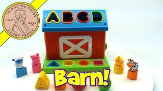 Infantino Barn Shape Sorter Farm Animals Learning Alphabet Baby Toy