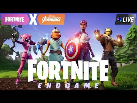 playing fortnite avengers endgame w subs come chat road to 1 200 - endgame movie playing fortnite