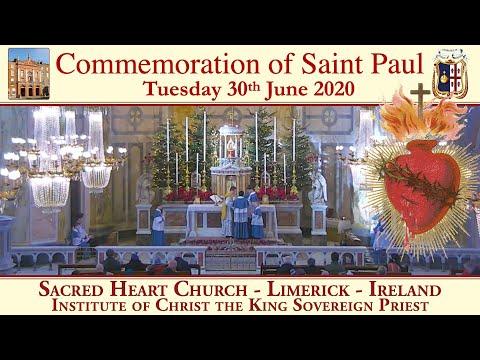 30th June 2020 - Commemoration of St. Paul