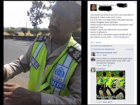 polisi ini malu sendiri, tilang pengendara tanpa surat tugas