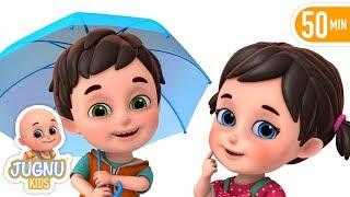 Barish Aayi Cham Cham Cham | hindi rhyme for Children by Jugnu Kids