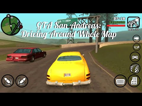 GTA San Andreas - Driving Around The WHOLE Map! Following Traffic Laws/Rules Gameplay on Mobile