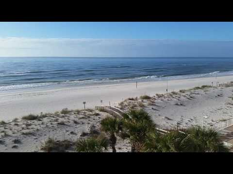 Gulf Shores beach and waves from the balcony of Ocean House 2501