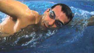 Front crawl Swimming technique - head position