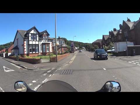 51 Scottish Highlands Motorcycle Trip - St. Phillans (A78) to Ardrossan (The rowan Tree A78)
