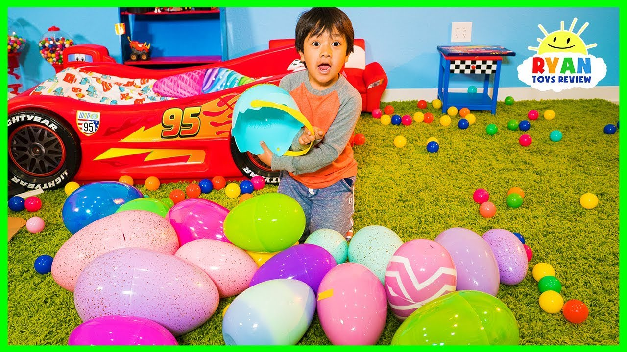Huge Easter Egg Hunt Surprise Toys Challenge For Kids With Ryan Toysreview Youtube
