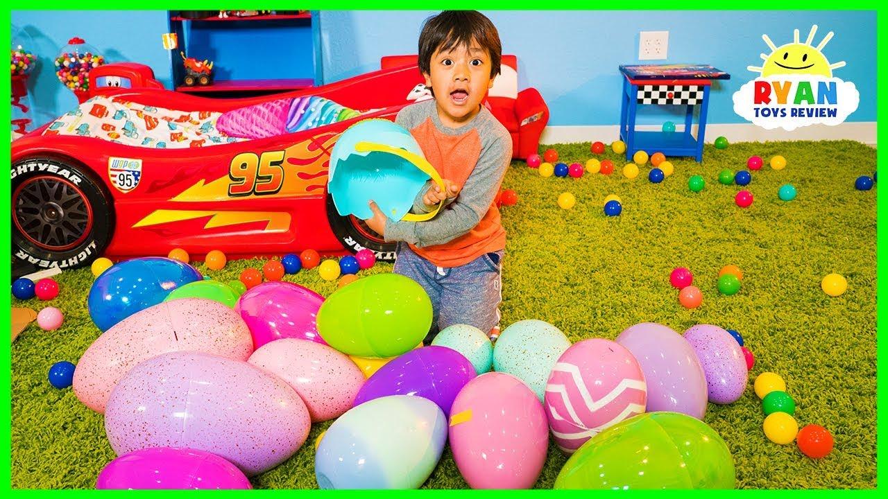 Huge Easter Egg Hunt Surprise Toys Challenge For Kids With