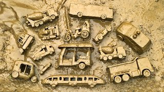 Finding mud toy vehicles from the countryside and then cleaning them  PlayToyTime TV