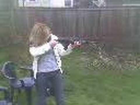 Girlfriend with a gun