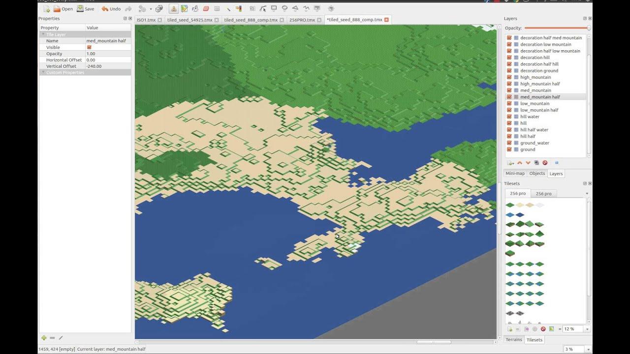WorldEngine: generate TMX maps with different biomes