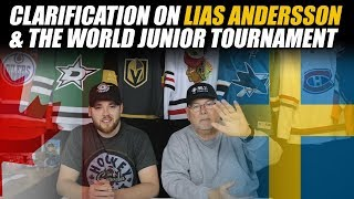 Clarification on Lias Andersson & the World Junior Tournament