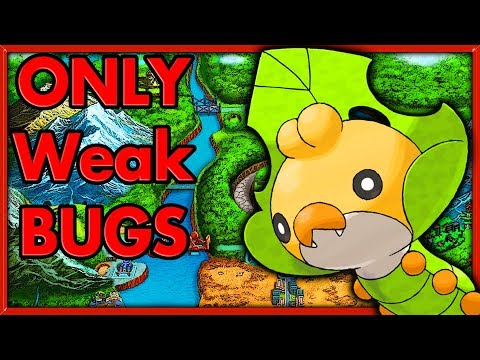 Can I Beat Pokemon Black with Only First Form Bugs? 🔴 NO ITEMS IN BATTLE Pokemon Challenges